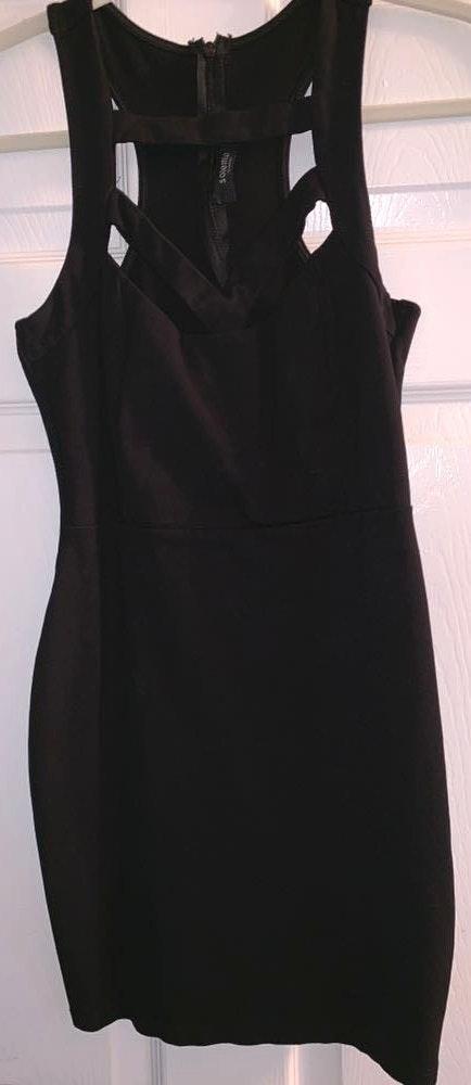 Solemio Black Bodycon Dress