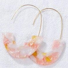 BaubleBar Light Pink Drop Earrings