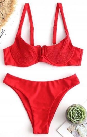 Smocked Underwire Bikini
