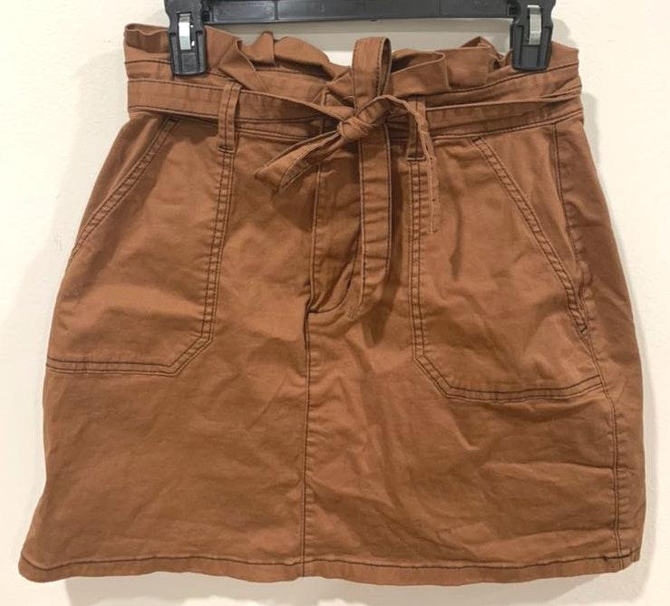 Cotton On Brown Stitched  Skirt