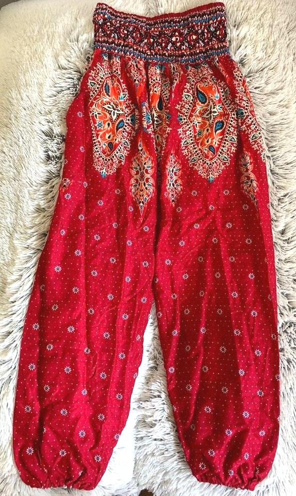Boho Harem Patterned Pants
