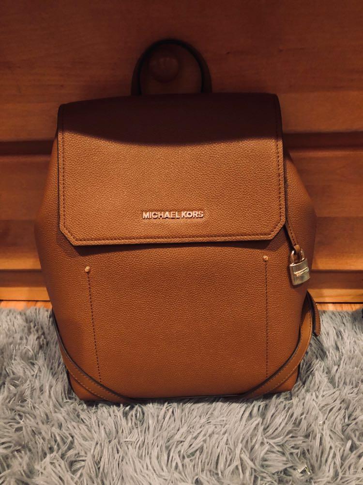Michael Kors Leather Medium Backpack