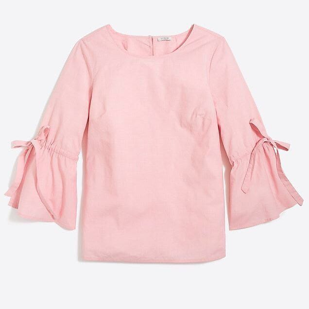 PINK Bow Sleeve Top