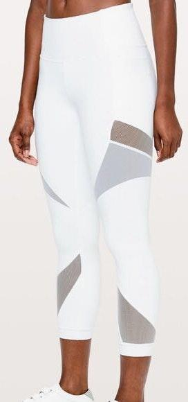 Lululemon White Crop Leggings
