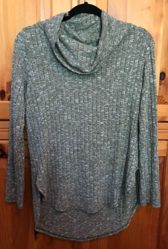 Fortuity Green & Cream Sweater