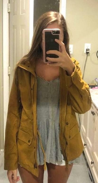 Love Tree Mustard Utility Jacket