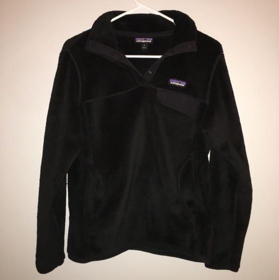 Patagonia Black Fleece Snap-T Pullover