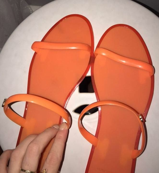 Tory Burch Orange Sandals