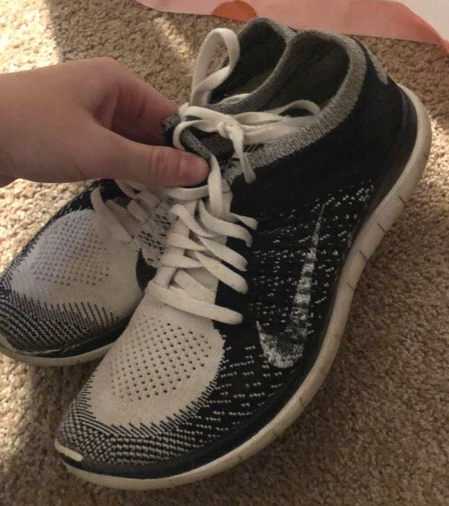 Nike White and black flynit