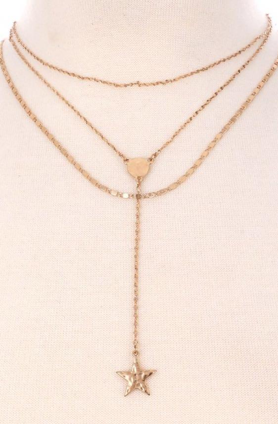 Star Gold Choker Necklace