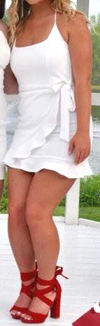 Lucy in the Sky White Tie Bodycon Dress