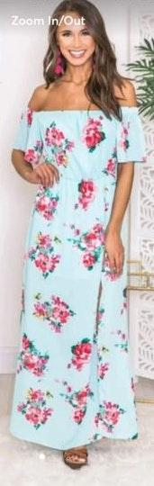 Pink Lily Off The Shoulder Maxi Dress