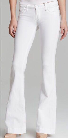 Hudson Jeans hudson white flare jeans