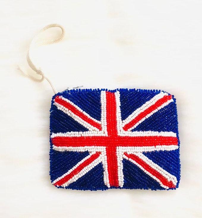 Union Jack Bead British flag coin purse