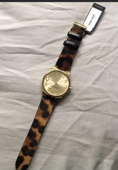 Nine West Leopard Print Watch