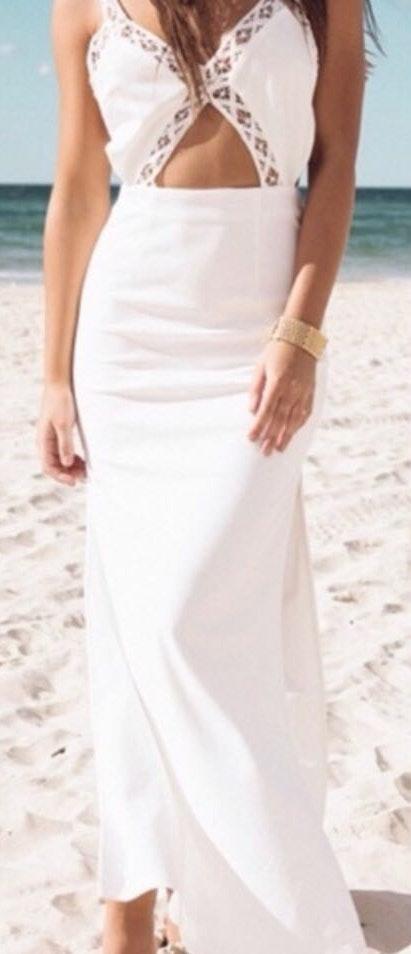 Sabo Skirt White formal dress