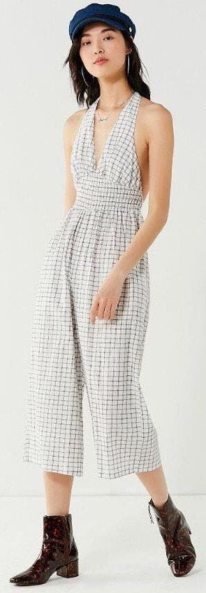 Urban Outfitters Wide Leg Halter Jumpsuit