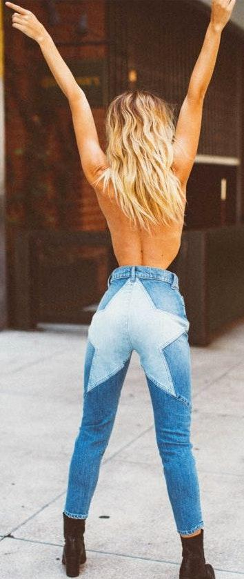 Revice Denim Venus Crop Stargazer Wash
