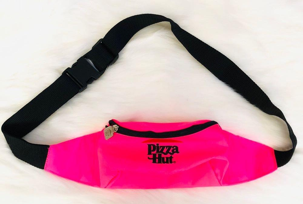 Rare Pizza Hut hot pink Fanny Pack