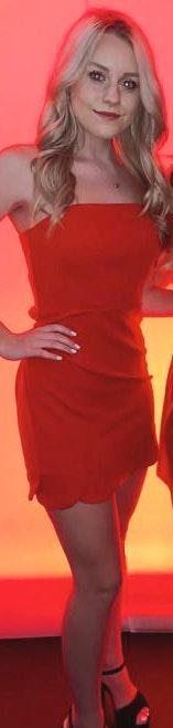 Hello Molly Strapless Red Dress