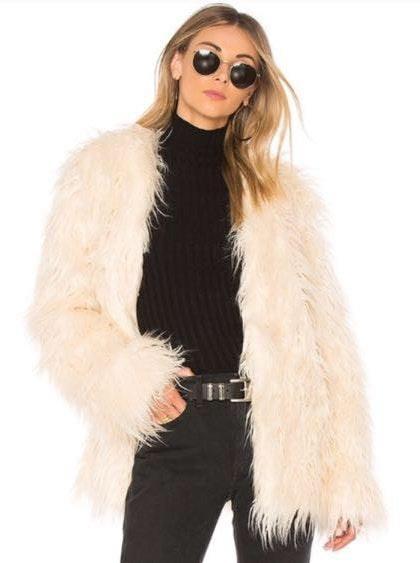 MINKPINK NWT  Faux Fur Jacket