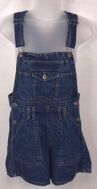 Overall Shorts With Back Ties
