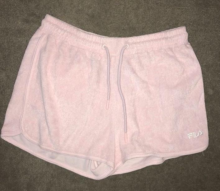 FILA Pink Terry Cloth  Shorts