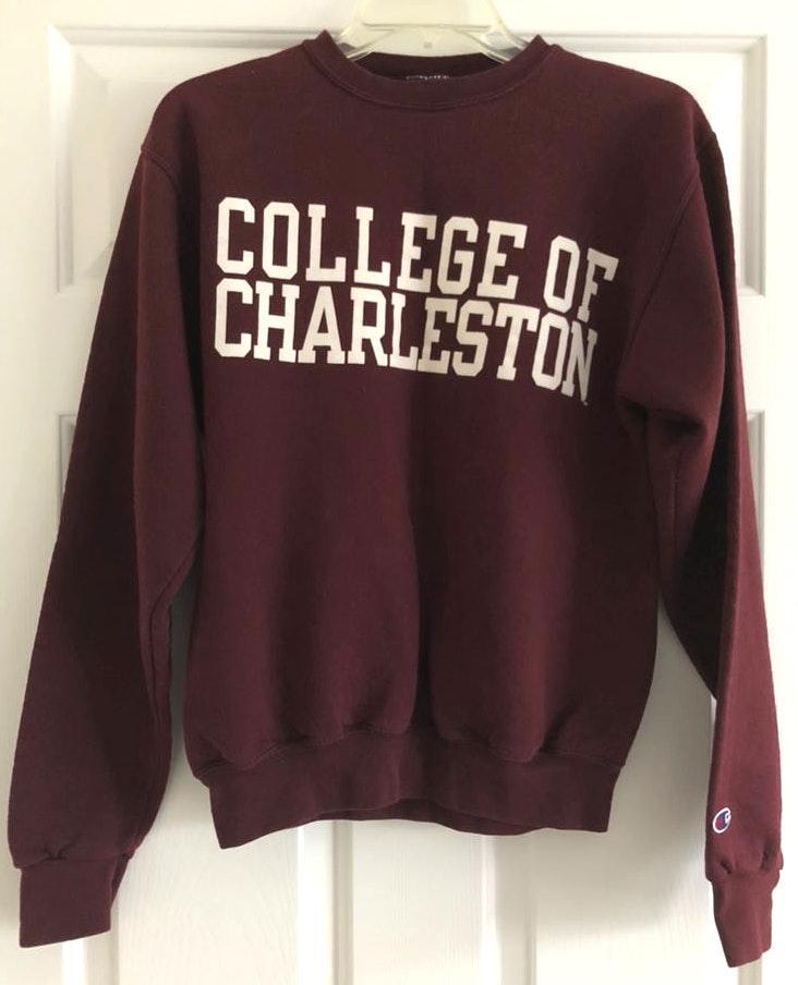 Champion Maroon College of Charleston Crewneck