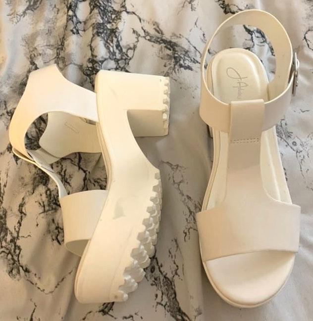 Platform White Sandals