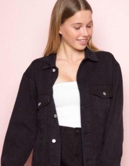 Brandy Melville NWOT  Black Denim Jacket