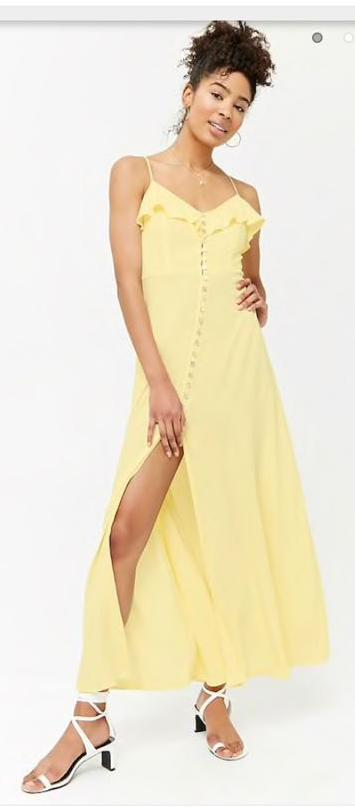 bed00c1c02 We re the buy sell app for cute clothes. Say to being bored of your  clothes. Home Forever 21 Yellow Maxi Sundress
