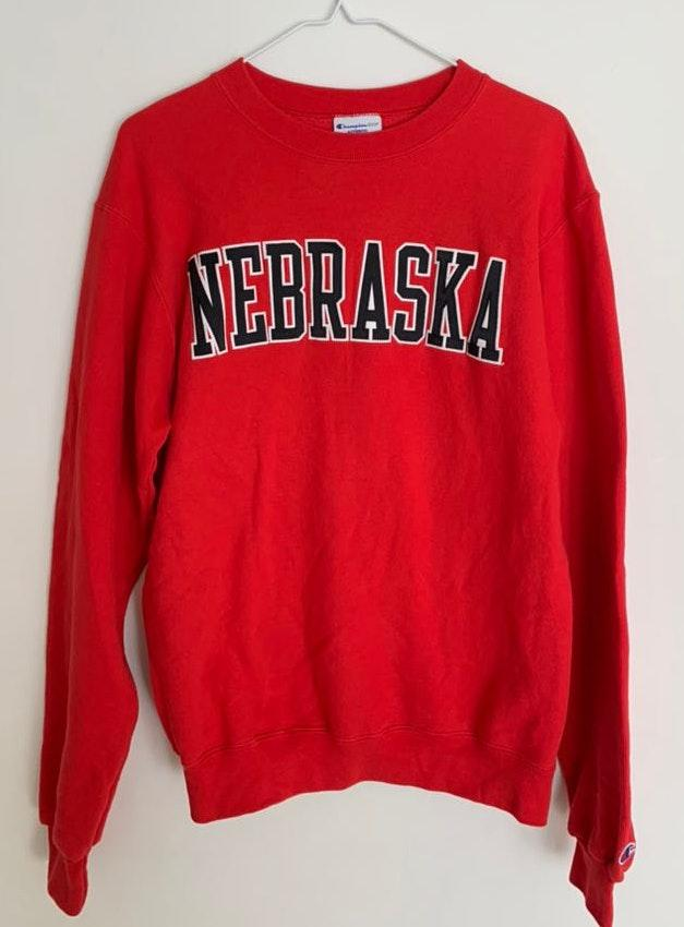Champion Red Nebraska Crew neck