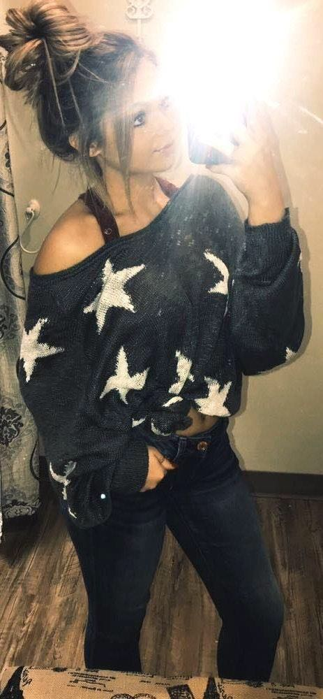 Wild Honey Star Lightweight Sweater