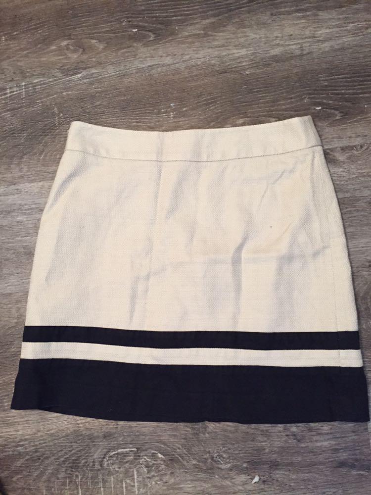 Ann Taylor Black And White A Line Skirt