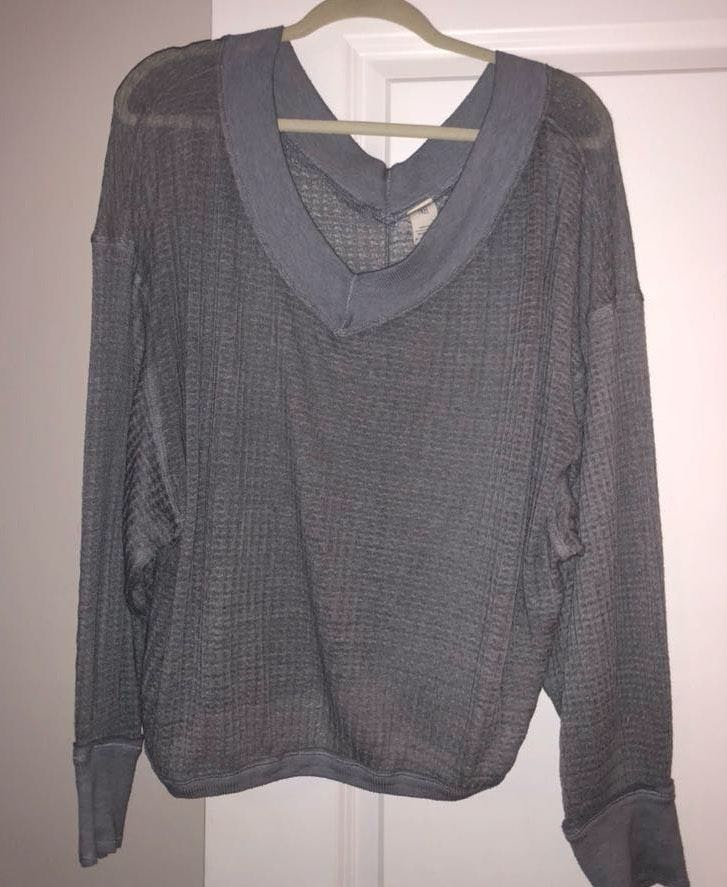 Free People Grey Lightweight Sweater