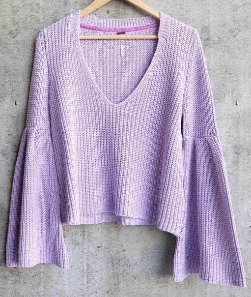 Free People Purple Sweater