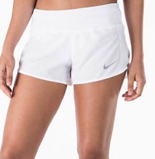 Nike White Running Shorts