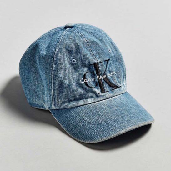 Calvin Klein Embroidered Logo Denim Baseball Cap