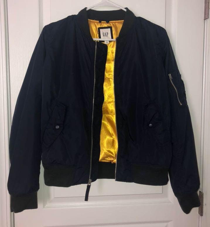Gap navy blue bomber jacket