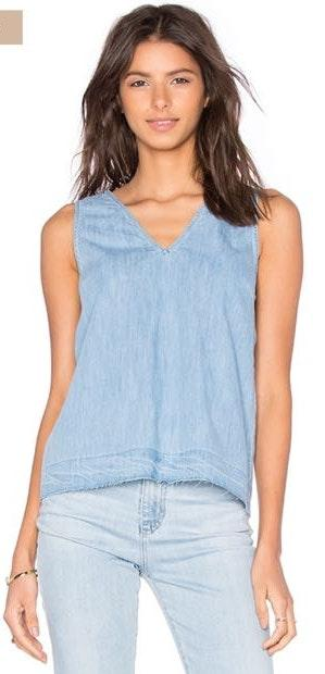 Rag & Bone drape v neck tank in kenton