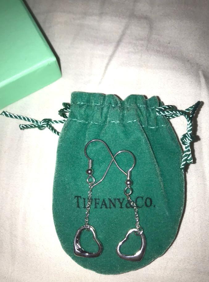 Tiffany & Co. Tiffany & Co Open Heart Pendant Earrings