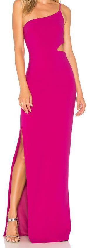 Likely Asymmetrical Pink Gown