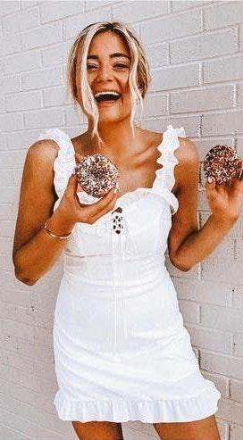 Goodnight Macaroon Naya Dress White