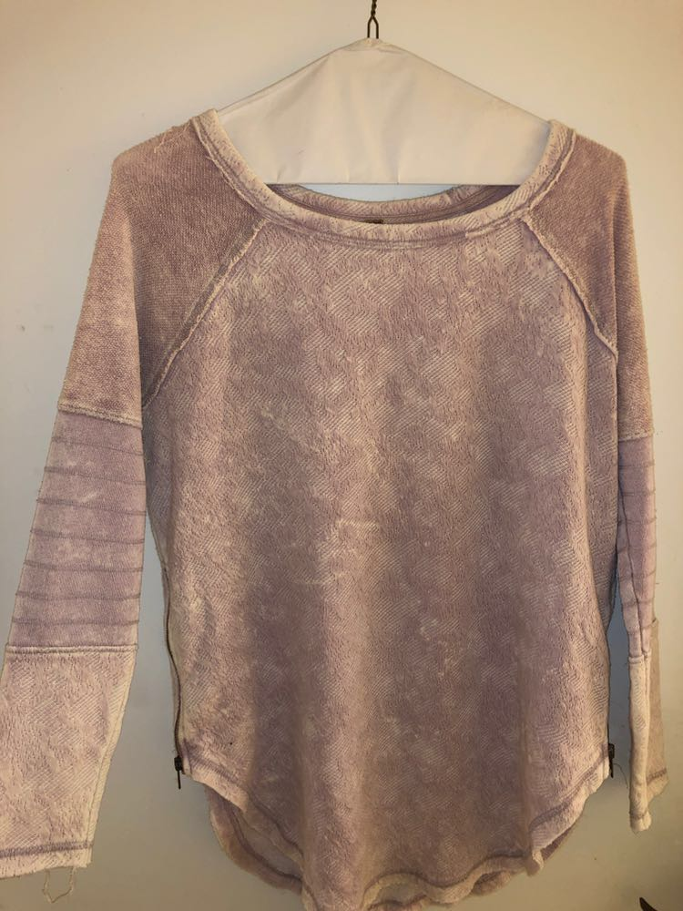 Free People Light pink sweater