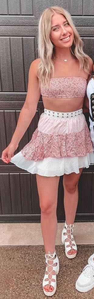 Pink Floral Set From Boutique