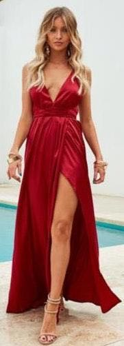 Xenia Red Maxi Dress