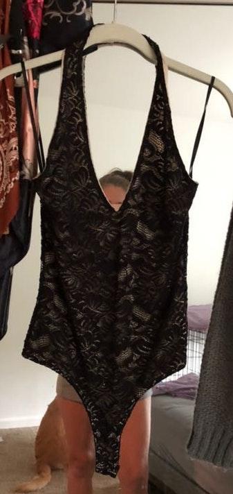 A'Gaci Lace Halter Bodysuit