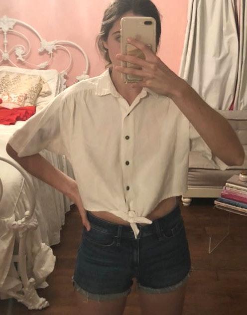 Dress Forum White Canvas Crop Top