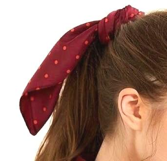 Urban Outfitters Red Dotted Hair Scarf