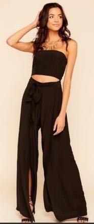Skylar + Madison Black strapless jumpsuit